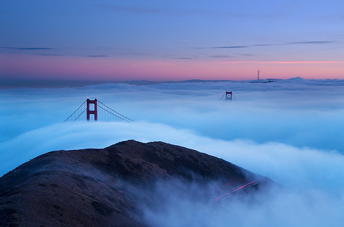 Winter Fog Shrouding the Golden Gate Bridge