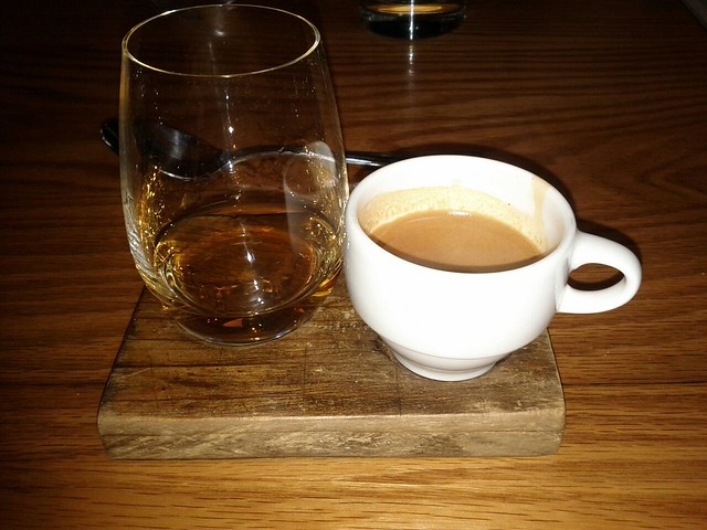 cognac and espresso serving at avec in chicago