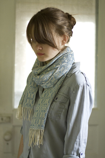 hand-woven scarf