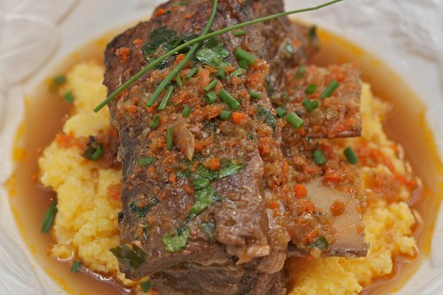 Beef Short Ribs over Polenta