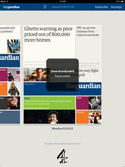 Guardian iPad edition - Issues