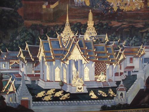 Ramakien Mural, Wat Phra Kaew, Bangkok by Aidan McRae Thomson
