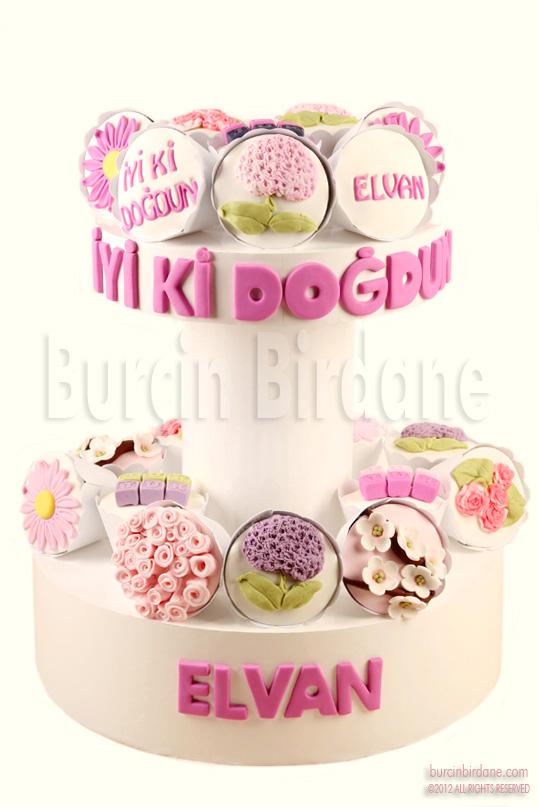 Cicekli Cupcake Stand