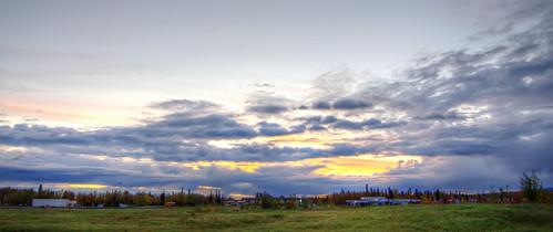 sunset field alaska clouds hdr d5100