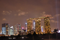 Marina Bay Sands at dusk