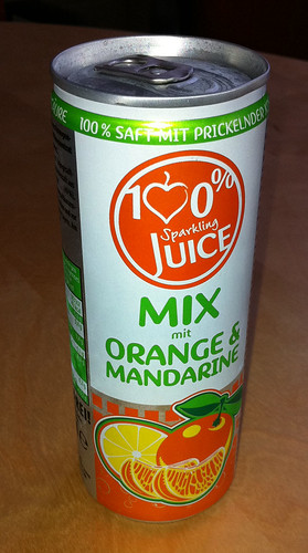 100% Sparkling Juice - Mix mit Orange und Mandarine 1 by softdrinkblog