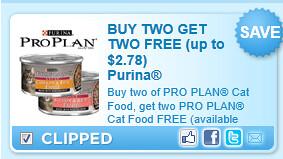 Purina Pro Plan Brand Dry Cat Food Coupon