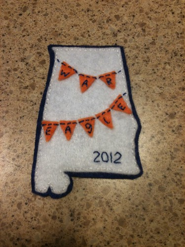 War eagle Christmas ornament