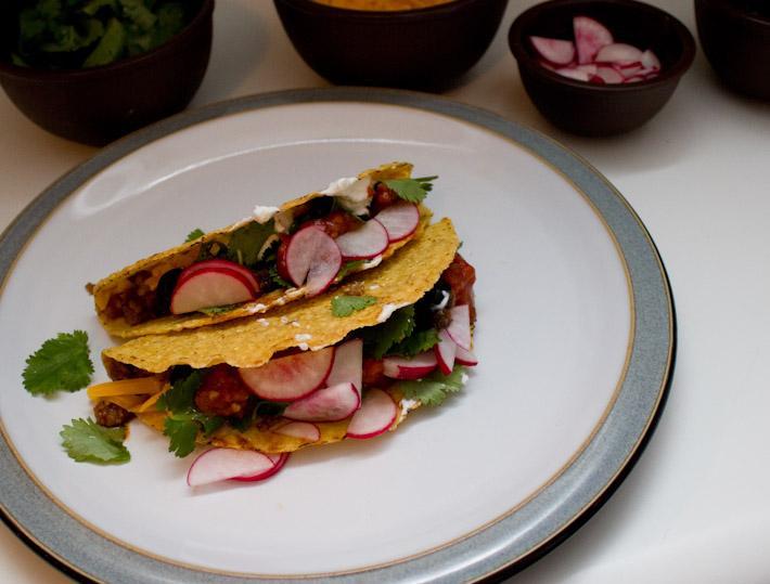 Veggie Meat Tacos!