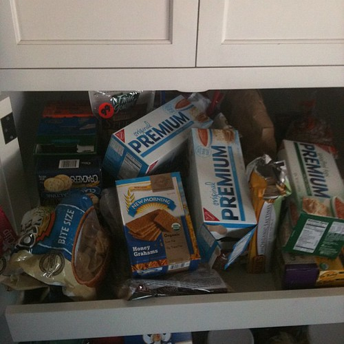 Lower pantry, upper drawer - before