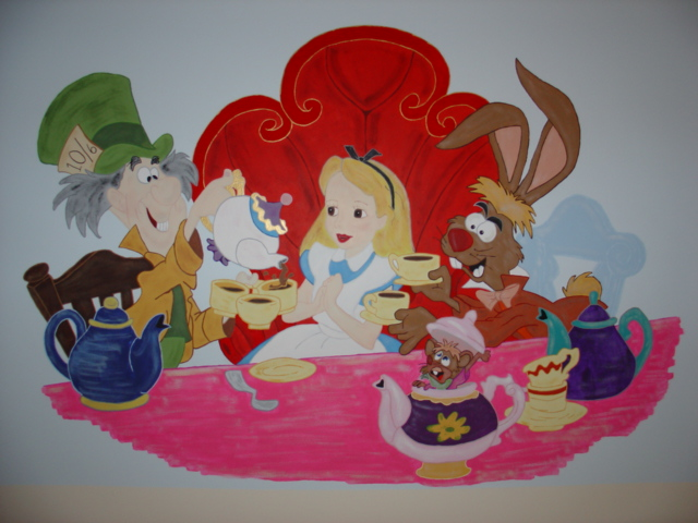 Alice in wonderland wall mural flickr photo sharing for Alice in wonderland mural