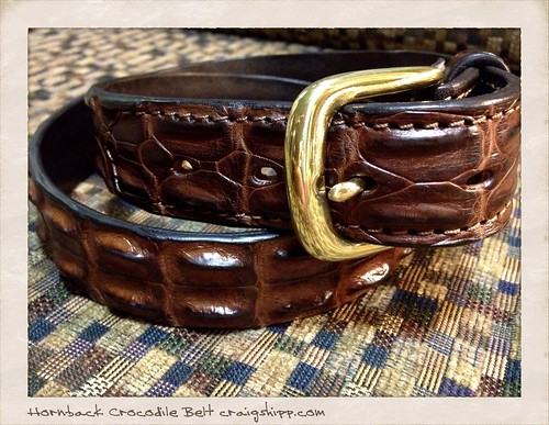 Hornback Crocodile Belt by CraigShipp.com Photos - Events / People / Places
