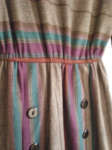 Vintage stripe dress detail