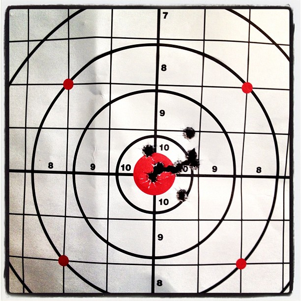#targetpractice #ouch #100yards