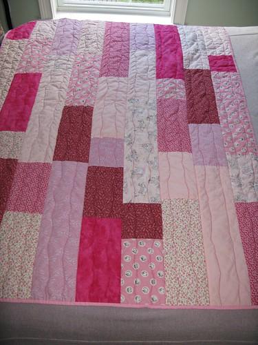 pink tile quilt