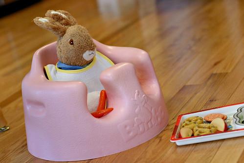 Mr. Rabbit has his breakfast