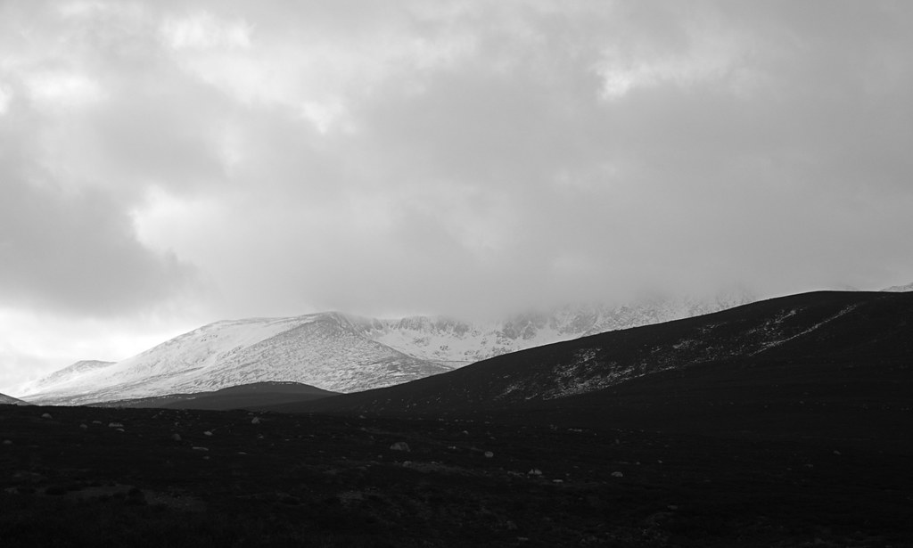 Lochnagar under cloud