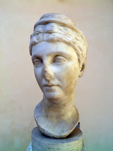Faustina the Elder (wife of Antoninus Pius), from the Baths of the Cisiarii, 2nd century AD, Ostia Antica, Italy