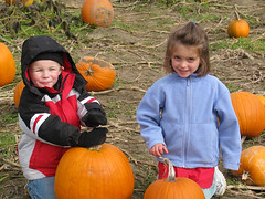 BoyGirlPumpkins by Lyme Nursery