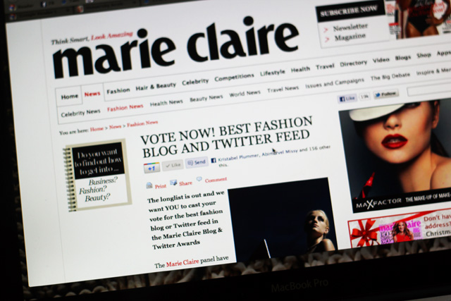 marie-claire blog awards