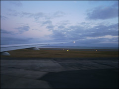 Taking off from Auckland International Airport