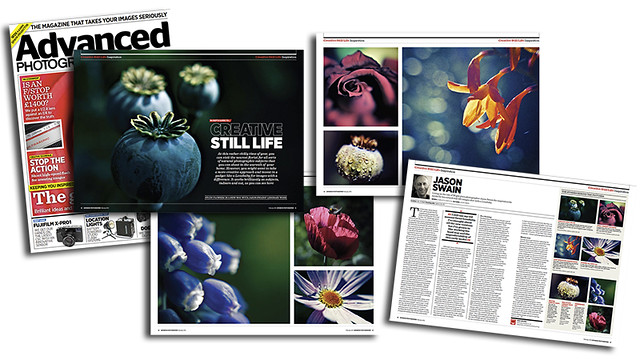 Advanced Photographer Magazine feature. Creative Still Life.