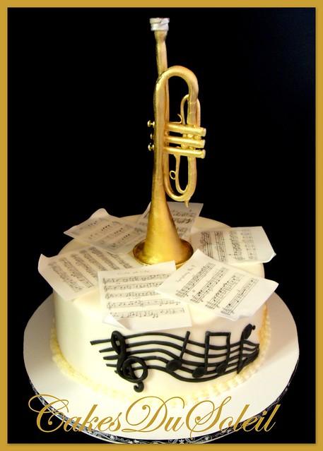 Trumpet Birthday Cake