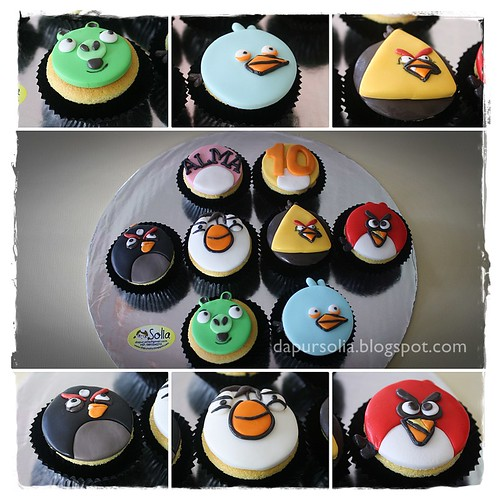 Angry Birds Cupcakes for Alma