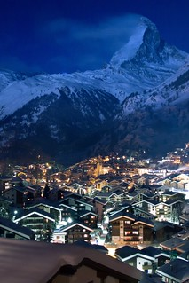 Sin City Zermatt Switzerland By Night