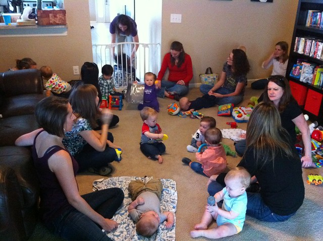 Just hosted 14 women and 14 babies for a playdate. Wild!
