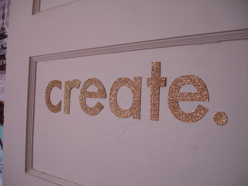create in handcut letters