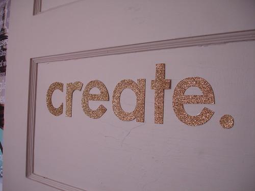 create in handcut letters