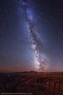 Milky Way stars over Bryce Canyon