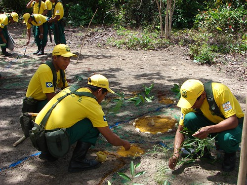 Training participants work out a detailed scenario.  Photo courtesy of Forrest Behm