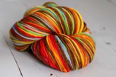 'choco rainbow' merino/alpaca  9oz