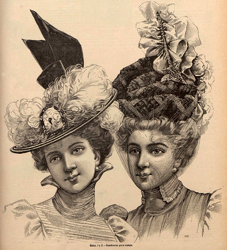 009-Sombreros para campo-La Última moda-revista ilustrada hispano-americana, del 12 de junio de 1898-copyright MemoriadeMadrid