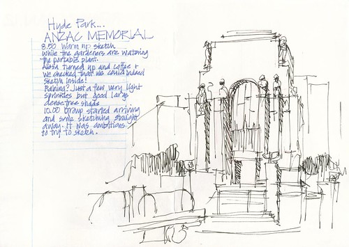 120121 Sketchcrawl 34_02 Anzac Memorial Warmup