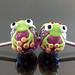 Charm bead : Green frog