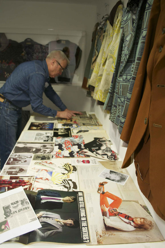 Lloyd Johnson exhibition install: Day 5