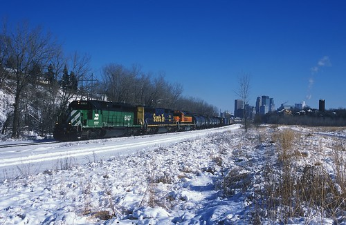 SD45-2B sandwiched by SD40-2's
