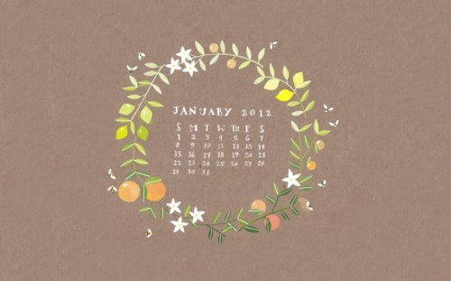 lovely desktop calendar by Rebekka Seale