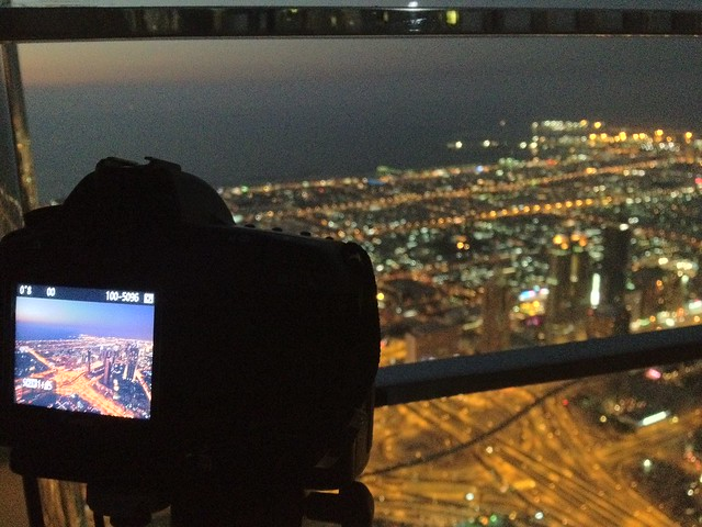 Achievement Unlocked: Shoot time lapse from the world's tallest building
