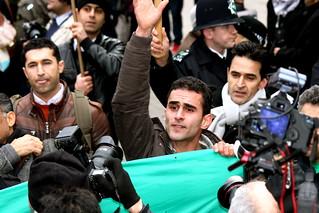 'Free Iran' protester