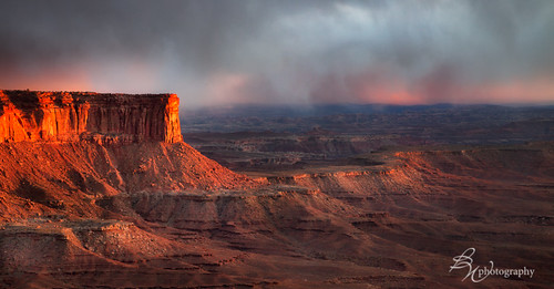 Spring storm over Canyonlands NP