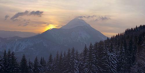 panorama austria january niederösterreich 2012 австрия ötschertormäuer ybbstalalps
