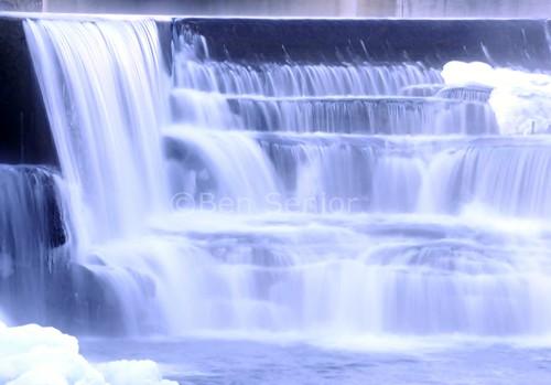 longexposure blue snow ontario canada water river falls icy almonte mississipiriver lanarkcounty bensenior mississipimills