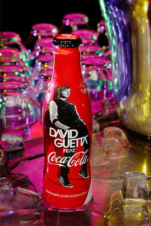 David Guetta Coke bottle by FoodBev Photos