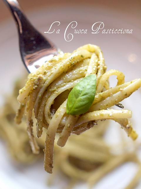 Linguine al pesto -Foto del WorkShop Sigrid Verbert