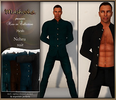 poster Nehru suit mesh
