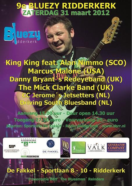 Bluesfestival Poster 2012 versie King King